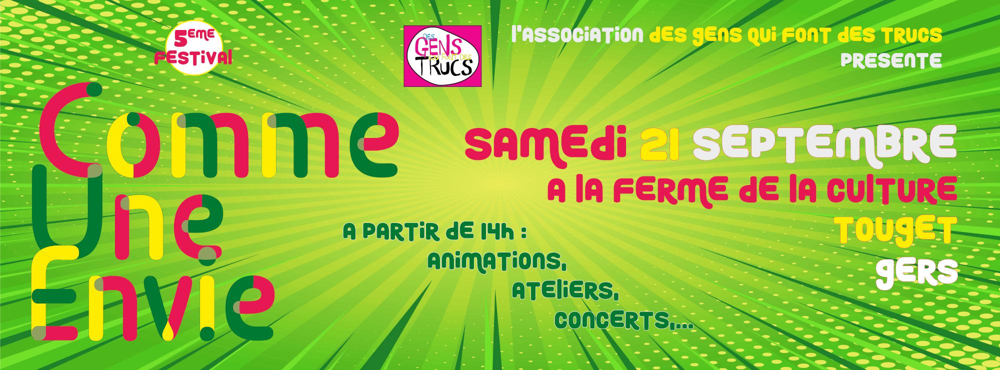 """Festival """"Comme Une Envie"""""""